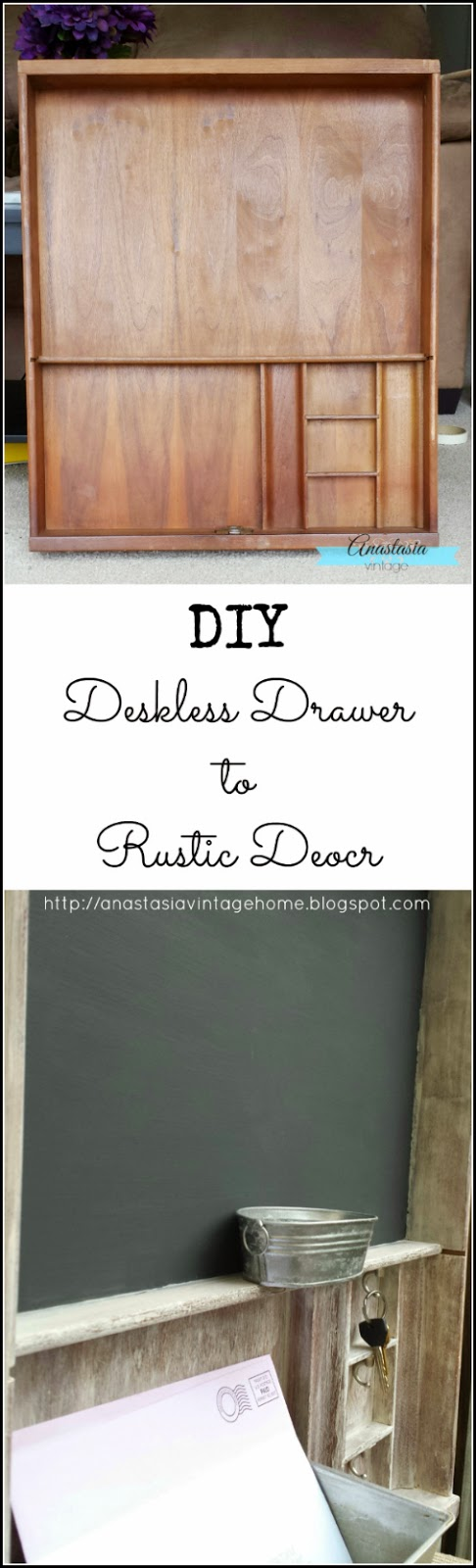 upcycled repurposed vintage desk drawer entryway organizer