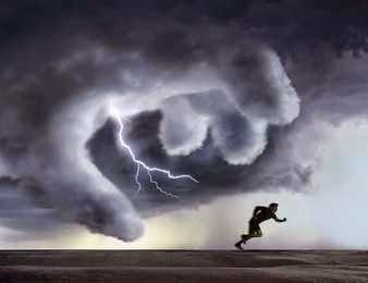 Dios enojado y furioso