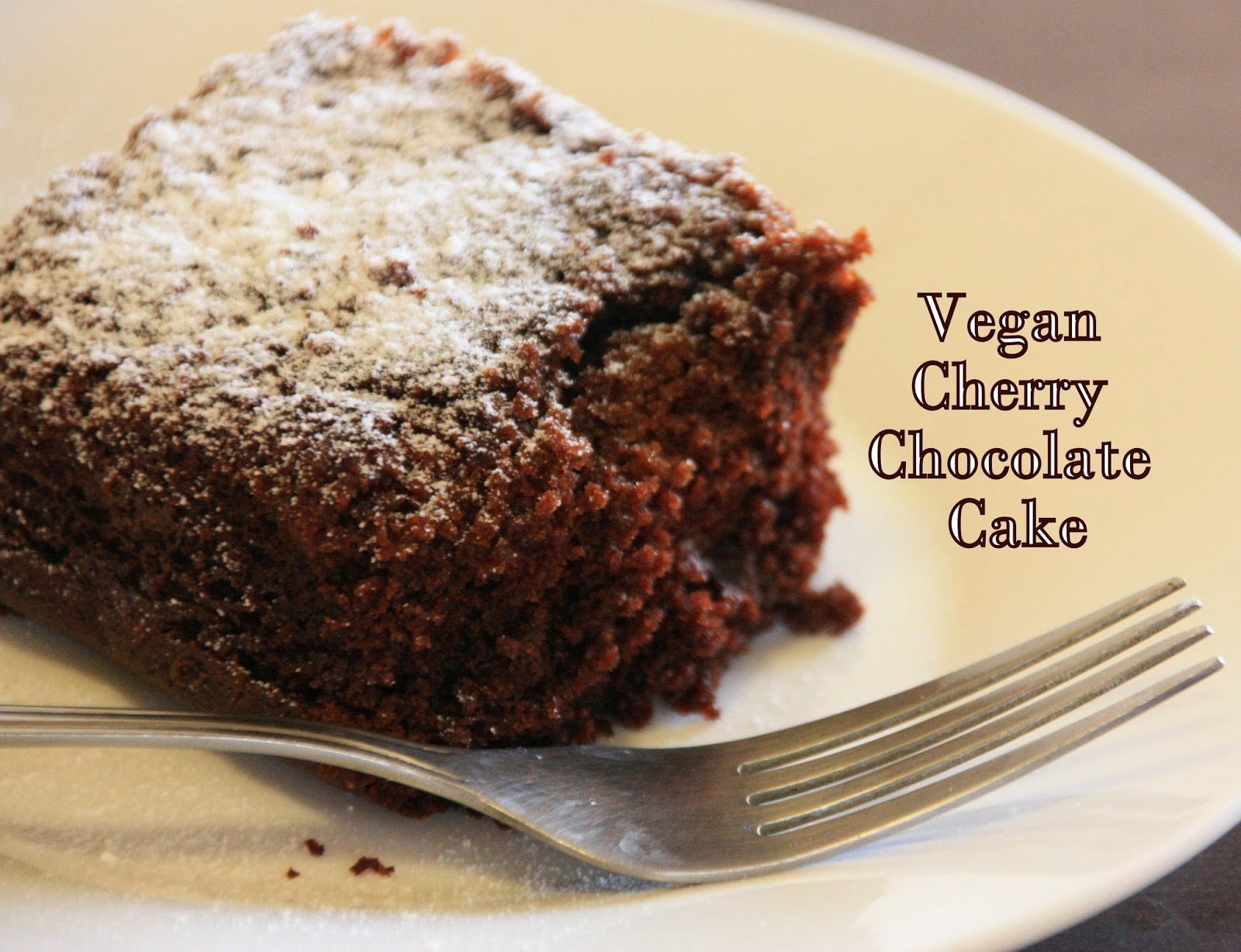 Sugar & Spice: Chocolate Cherry Cake - Whole Wheat | Vegan