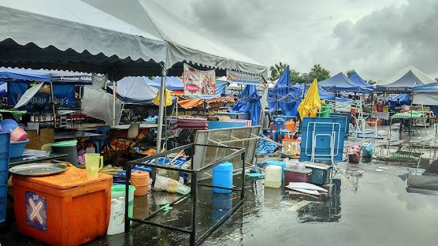Ribut Landa Bazar Ramadhan Kangar 2015