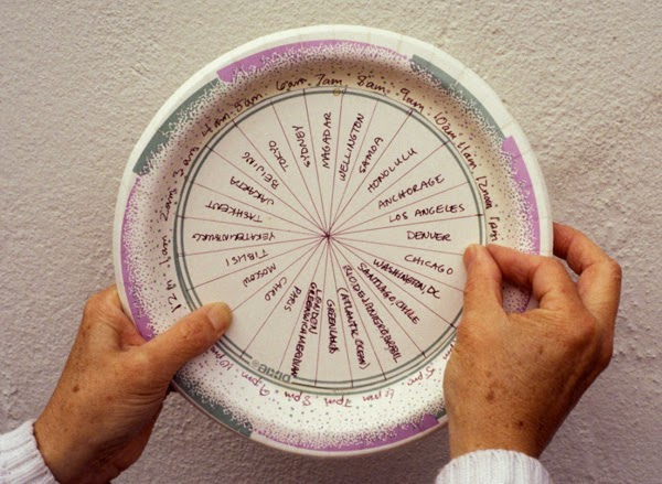 Paper Plate Time Zone  Clock  & Caroline Arnold Art and Books: WHAT TIME IS IT? Project: Make a ...