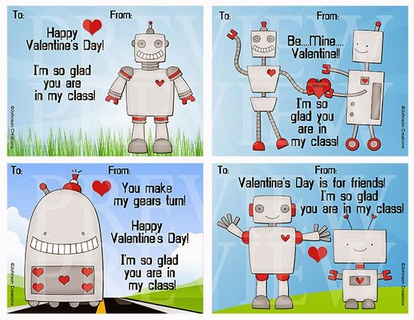 http://www.teacherspayteachers.com/Product/Robot-Valentines-1100372