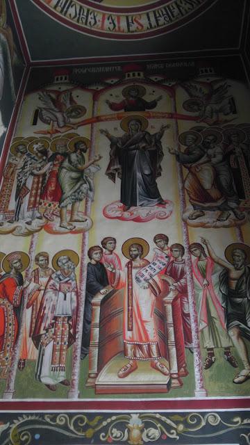 Picturi in Manastirea Saon - jud. Tulcea