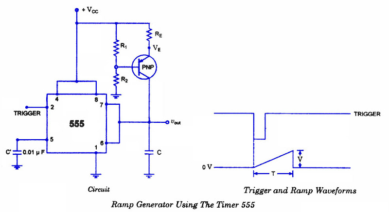 Ramp Generator Circuit Using Ne555 Simple Electronic