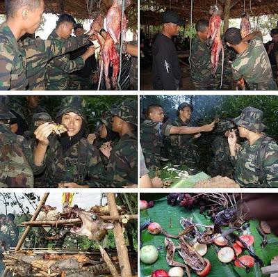 Tentera,Askar,ATM,Malaysia,Makan,Bakar,Panggang,Monyet,Biawak,Katak,Ular,Cacing