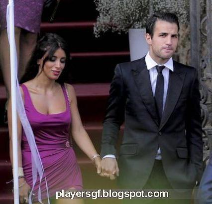 Cesc Fabregas and Daniela Semaan