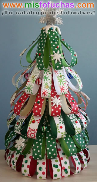 Ribbon Scrap Christmas Tree