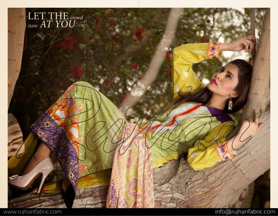 New rujhan lawn dresses 2015