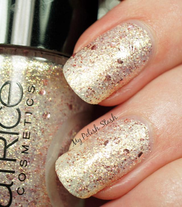 sand style glitter nail polish Catrice