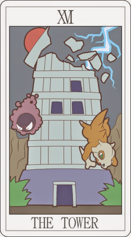 Pokemon Tarot - The Tower