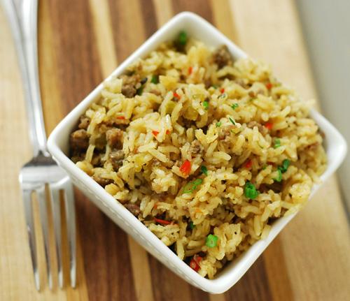 Dizzy Pig Dirty Rice, BBQ side dish, Big Green Egg rice,