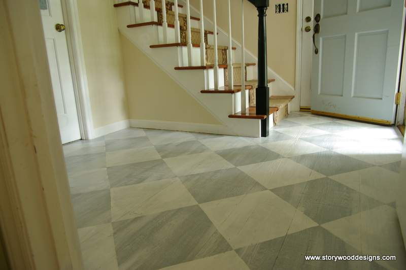 Painted Floor Best With Annie Sloan Chalk Paint On Floors Photo