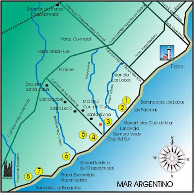 Mar del Plata Mapa Imagen