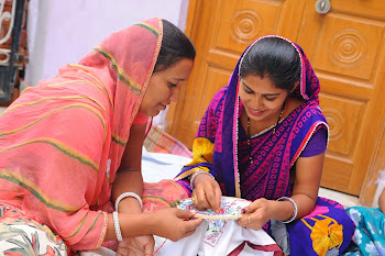 Rural women working on Embroidery