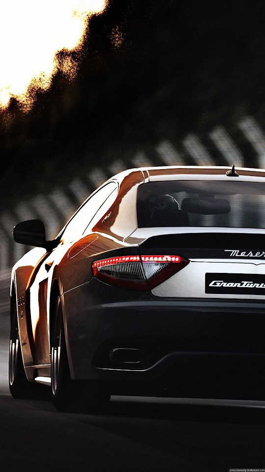 Maserati GranTurismo Back  Galaxy Note HD Wallpaper