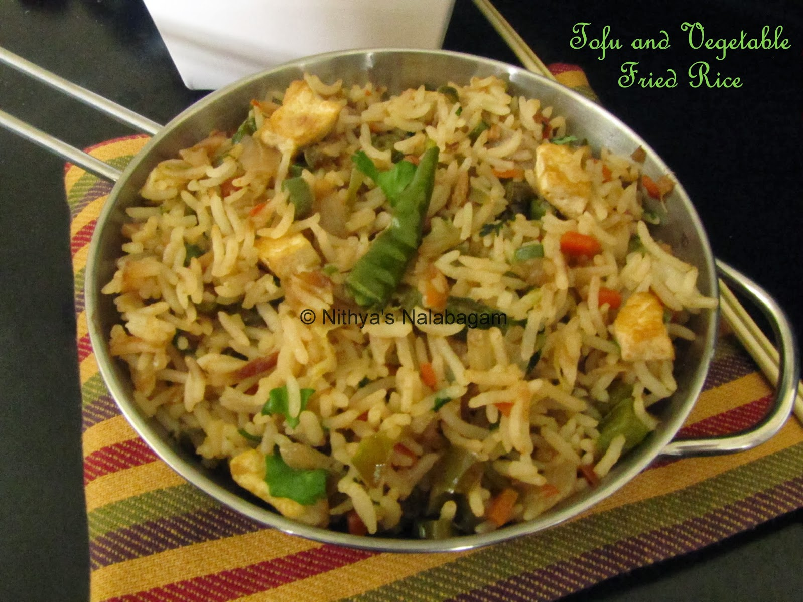 Tofu and mixed Vegetable Fried Rice