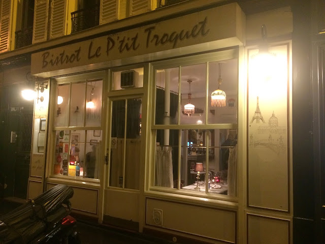 Exterior of Le P'tit Troquet, Paris