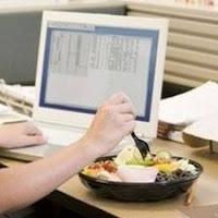 pranzo alla scrivania