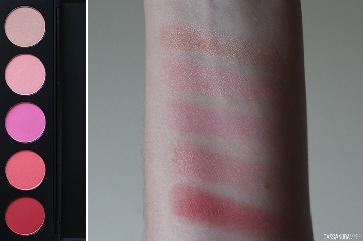BH COSMETICS // 10 Color Glamorous Blush Palette - Review + Swatches - cassandramyee