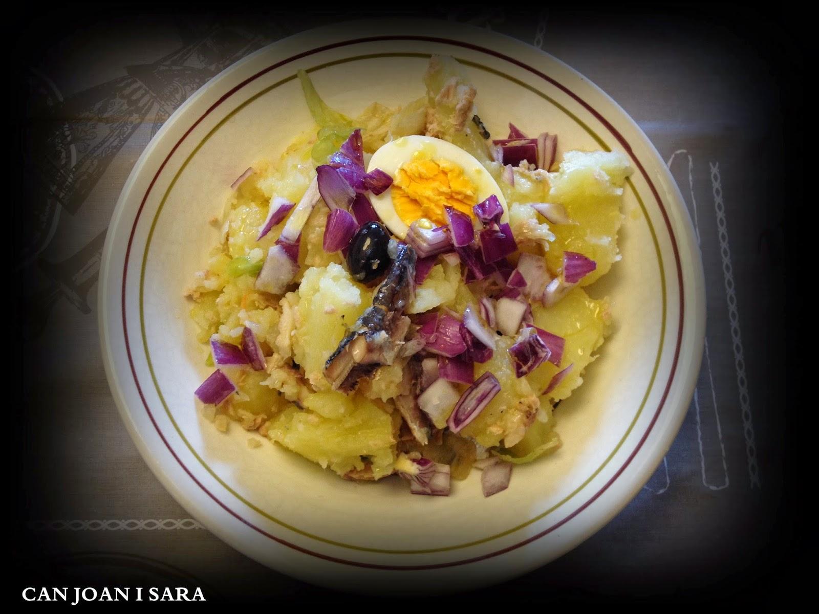 Ensalada de patatas con cebolla morada recetas de cocina - Tiempo de cocer patatas ...