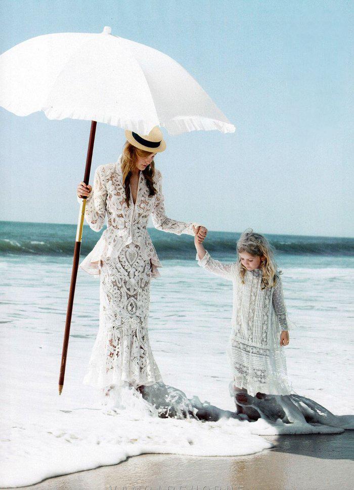 Caroline Trentini by Patrick Demarchelier for Vogue US November 2011 / baby girl, mother &