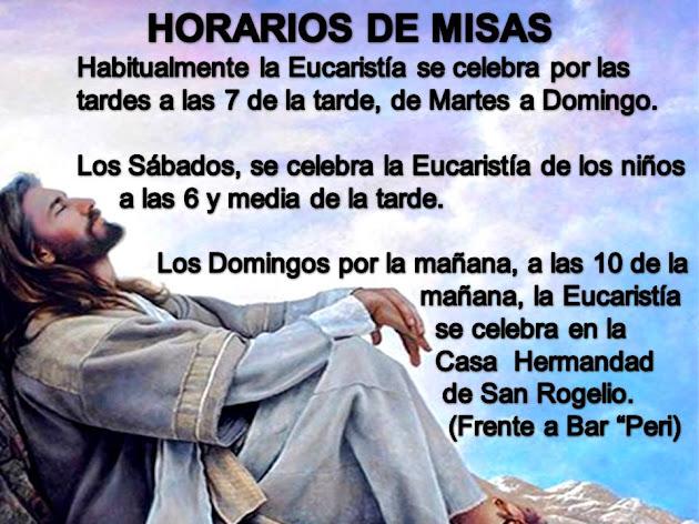 HORARIOS DE LAS MISAS EN LA PARROQUIA DE ÍLLORA DURANTE LA NAVIDAD