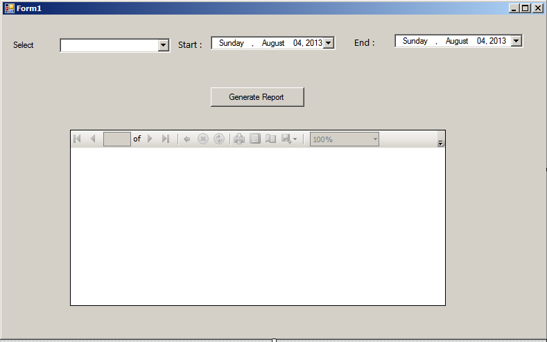 how to create report in c windows application