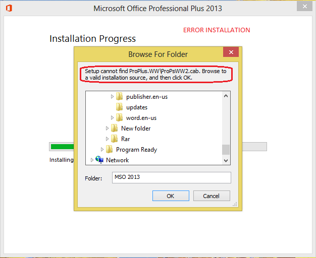 microsoft office 2007 setup cannot find setup.exe