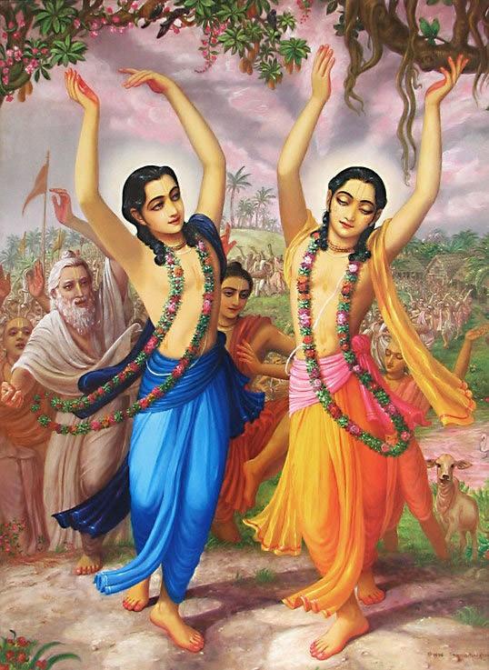 Sri Nityananda Prabhu y Sri Caitanya Mahaprabhu