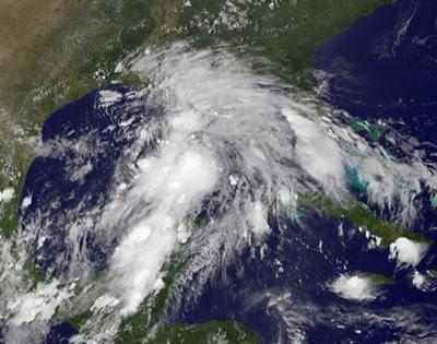 Tropisches Tief  13 (potenziell Tropischer Sturm LEE) formt sich im Golf von Mexiko, Sturmwarnung, Lee, Golf von Mexiko, Louisiana, September, Texas, USA, 2011, Hurrikansaison 2011, aktuell, Satellitenbild Satellitenbilder,