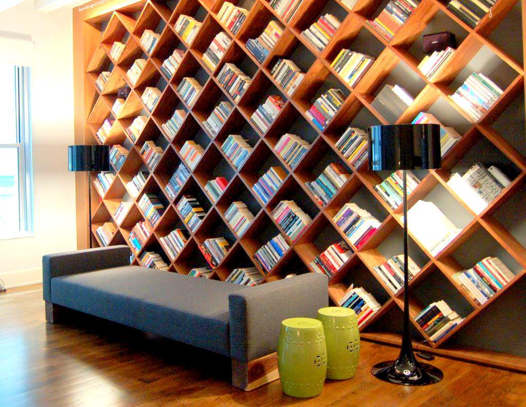 Kreativiti Rekaan Rak Buku Di Ruang Tamu & Bilik - Relaks ...