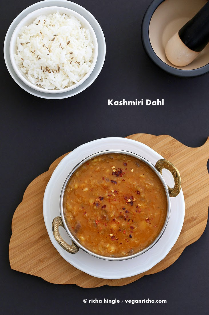 Kashmiri Dal - Split Pea & Yellow Lentil Soup with Ginger and Spices ...
