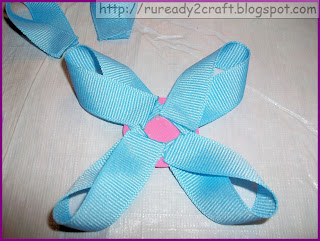 ribbon loops for layer of flower bow