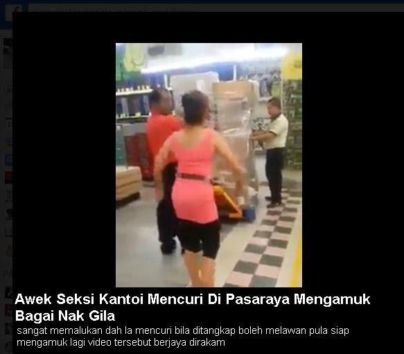 FULL Video Wanita Kantoi Mencuri Di Pasaraya Mengamuk Bagai Nak Gila