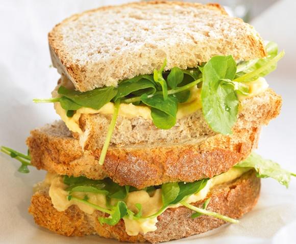 Sandwich Cresson Et Houmous