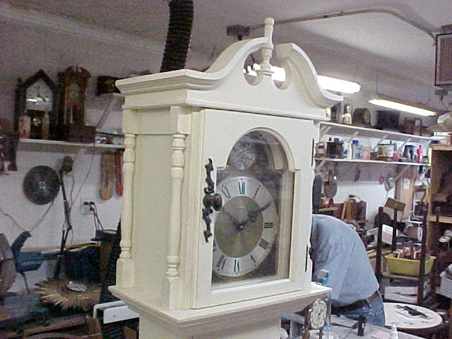 The Next Few Pictures Are Mostly Pieces In Our Antique Shop~Grandfather Clock Creamy White