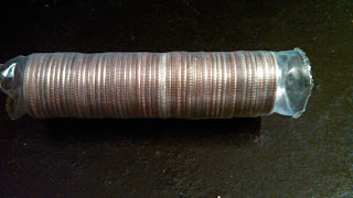 Coin Roll Hunting Dimes in Clear Brinks Wrappers in clear wrapper Brinks box