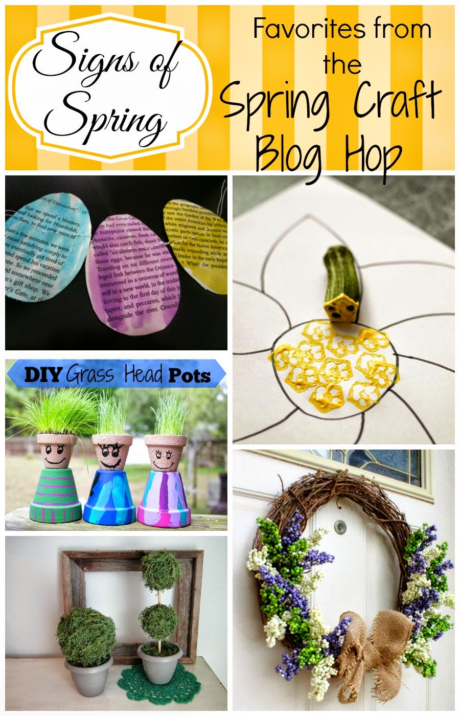 Get inspired for Spring with the Spring Craft Blog Hop - See this week's features on Creative Mama Messy House