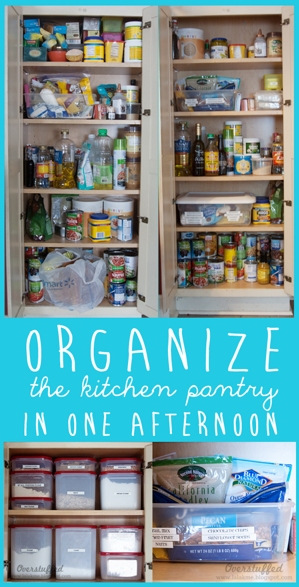Ideas for keeping the kitchen pantry organized, especially if you have a very small kitchen pantry.