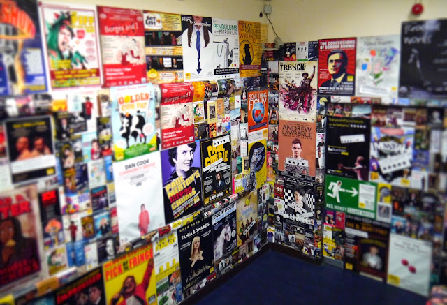 Posters in the Pleasance Dome