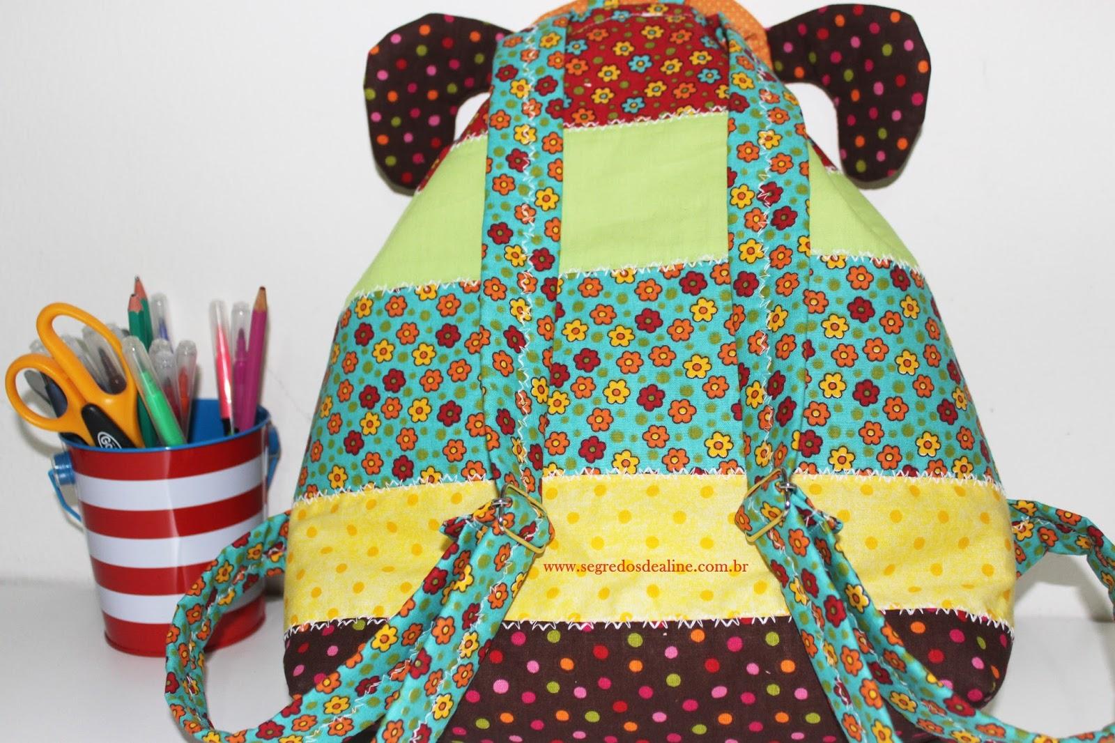 Bolsa Em Tecido Infantil Passo A Passo : Segredos de aline mochila infantil patchwork