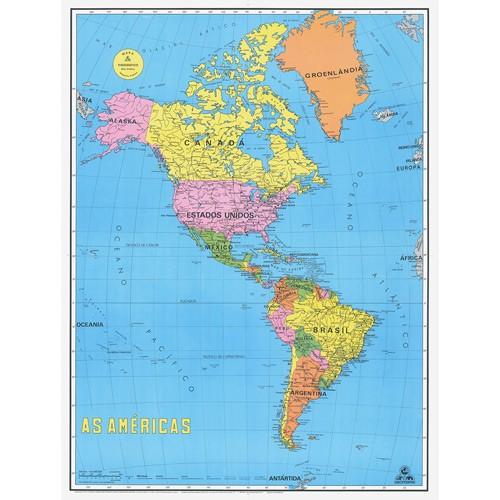 Mapa continente americano politico completo - Imagui