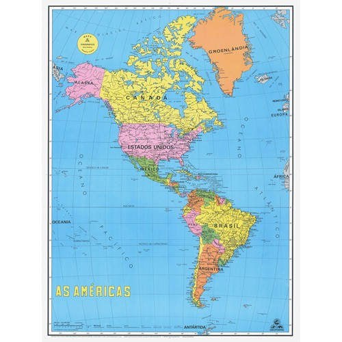 Worksheet. Mapa politico de continente americano detallado  Imagui