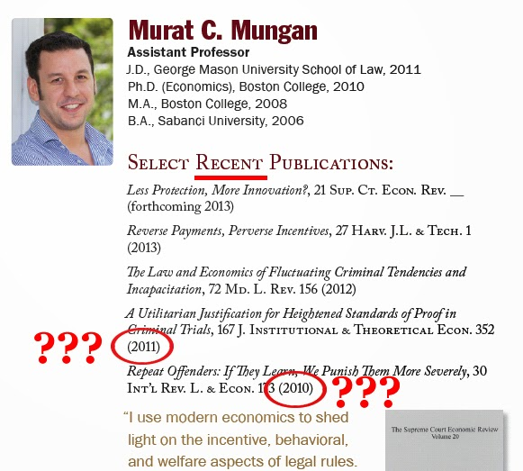 Florida State College of Law - Murat C. Mungan - Select Recent Publications