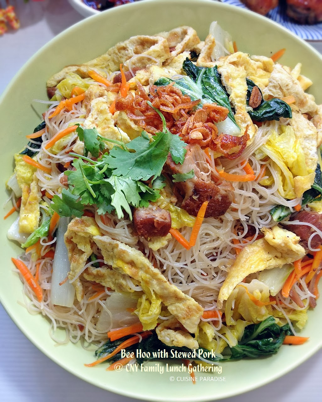 Cuisine paradise singapore food blog recipes reviews and main dish fried bee hoon with stewed pork forumfinder Choice Image