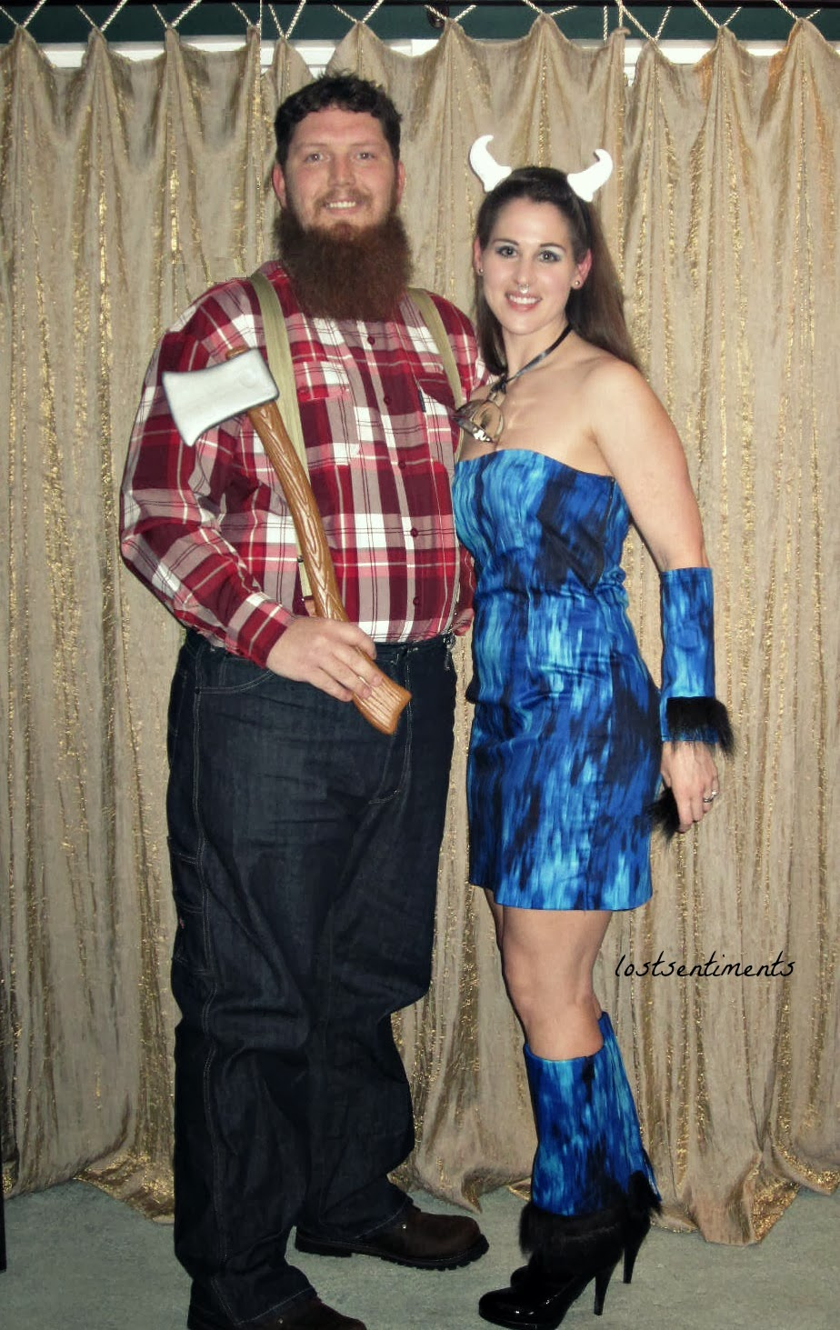 lostsentiments paul bunyan babe the blue ox couples costume