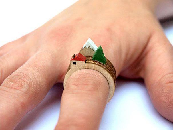cincin rumah gunung dan cemara
