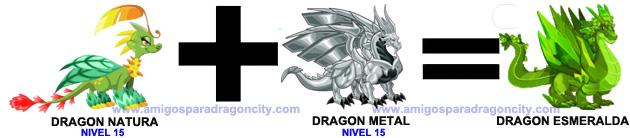 como sacar el dragon esmeralda en dragon city combinacion 2