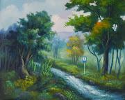 Pintor de Paisajes selváticos. Sebastián Buchelli paisajes al oleo selvas naturales con seã±ales aeropuerto