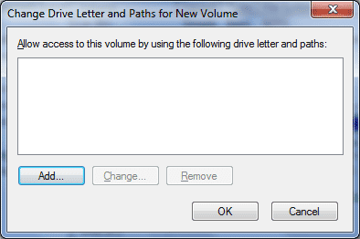 add drive letter